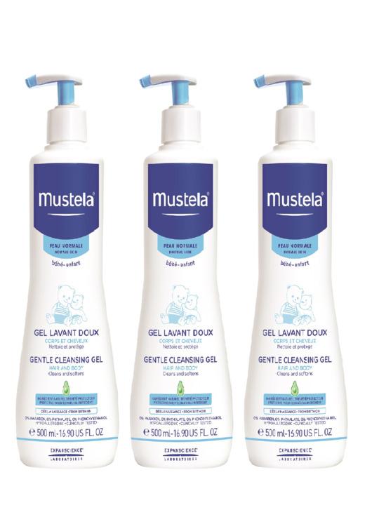 Mustela Gentle Cleansing Gel (500ml) 3-pack