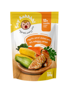 Say Aahhhh Chayote Carrot Chicken Corn with Malunggay Puree (100g)