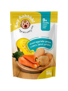 Say Aahhhh Mixed Vegetable Puree (100g)