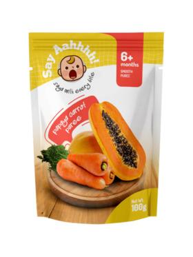 Say Aahhhh Papaya Carrot Puree (100g)