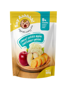 Say Aahhhh Sweet Potato Apple Cauliflower Puree (100g)