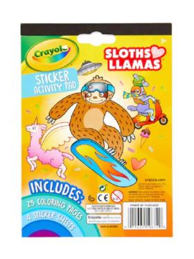 Crayola Sloths Love Llamas Sticker Activity Pad