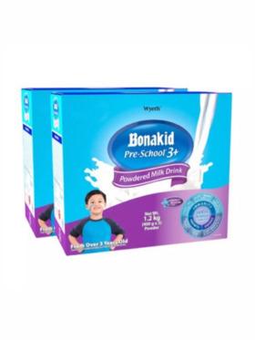 Bonakid Preschool BONAKID PRE-SCHOOL® 3+ Stage 4 Powdered Milk Drink 1.2kg (Bundle of 2)