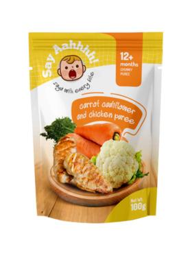 Say Aahhhh Carrot Cauliflower and Chicken Puree (100g)