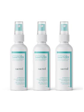 Sacred Zero Fragrance Moisturizing Sanitizer (90ml) Bundle of 3