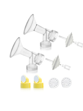 Maymom Breast Flange Kit for Breast Pumps (Narrow-neck) - Pair