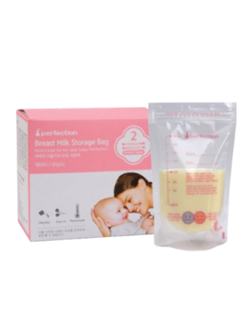 Perfection Double Zipper Breast Milk Bag w/ Temp Detection (60 pcs)