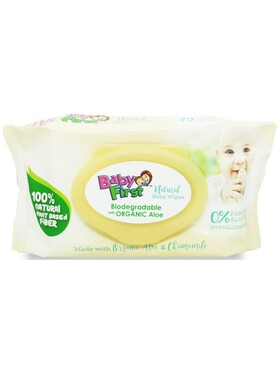Baby First Natural Baby Wipes (72 sheets)