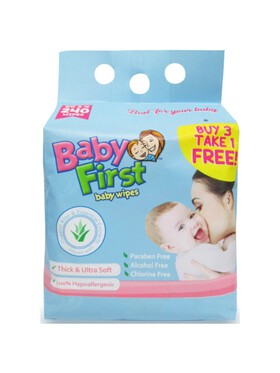 Baby First Baby Wipes Bundle of 4 (60 sheets)
