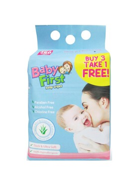 Baby First Baby Wipes Bundle of 4 (90 sheets)