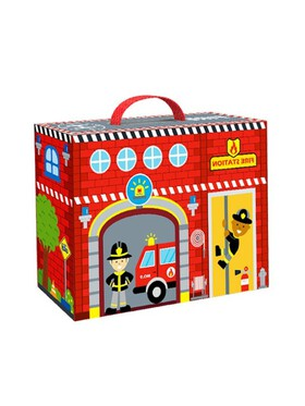 Tooky Toy Fire Station Box
