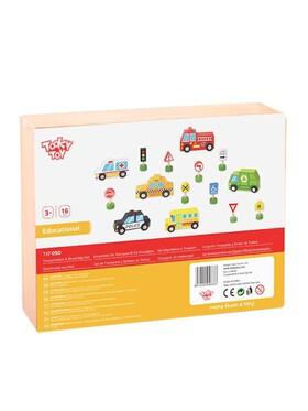 Tooky Toy Transportation & Street Sign Set
