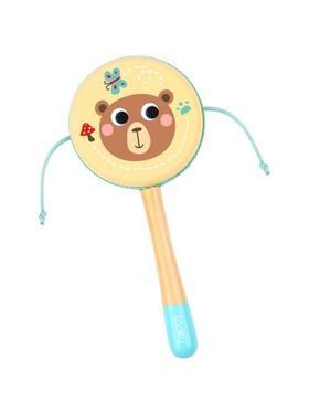 Tooky Toy Drum Rattle Brown Bear