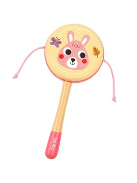 Tooky Toy Drum Rattle Pink Bunny