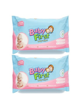 Baby First Baby Wipes 2-Pack (60s)