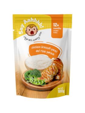Say Aahhhh Chicken Broccoli Peas and Rice Puree (100g)