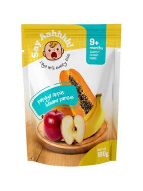 Say Aahhhh Papaya Banana Apple Puree (100g)
