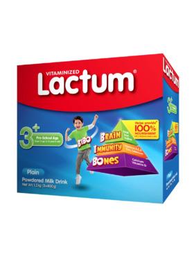 Lactum Lactum 3+ Powdered Milk Plain (1.2kg)