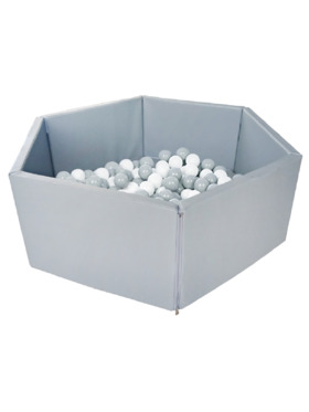 Bonjour Baby Foldable Ball Pit with 300 White & Grey Balls
