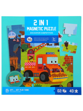 Joan Miro 2-in-1 Magnetic Puzzle - My Excavator Competition