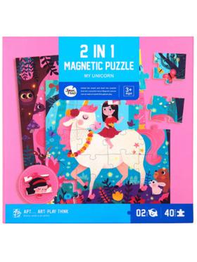 Joan Miro 2-in-1 Magnetic Puzzle - My Unicorn