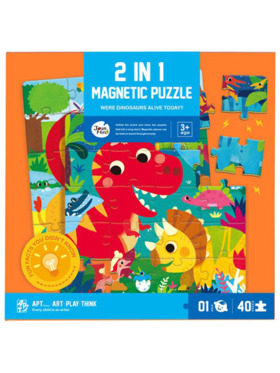 Joan Miro 2-in-1 Magnetic Puzzle - Were Dinosaurs Alive Today