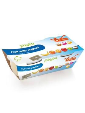 Byba Fruit with Yoghurt Baby Fruit Puree Tub (2x200g)