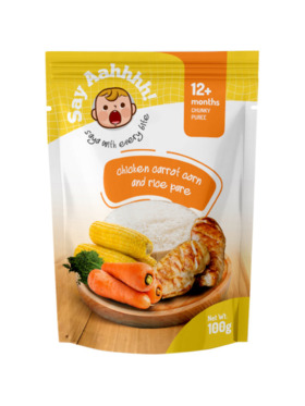 Say Aahhhh Chicken Carrot Corn and Rice Puree (100g)