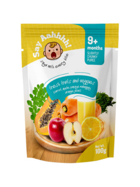 Say Aahhhh Fresh Fruits and Vegetable Puree (100g)
