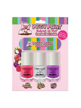 Piggy Paint Blister 3-Pack with Nail File
