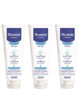 Mustela 2-in-1 Cleansing Gel (200ml) 3-pack