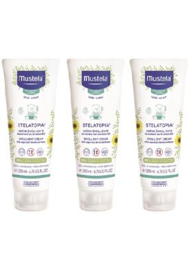 Mustela Stelatopia Emollient Cream (200ml) 3-pack