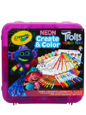Crayola Create & Color Case Trolls World Tour