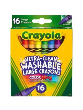 Crayola Large Washable Crayons (16 Count)