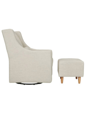 Babyletto Toco Swivel Glider with Ottoman