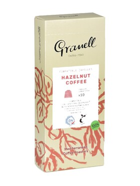 Granell Flavored Aromas Hazelnut Nespresso Capsule Replacement Compostable