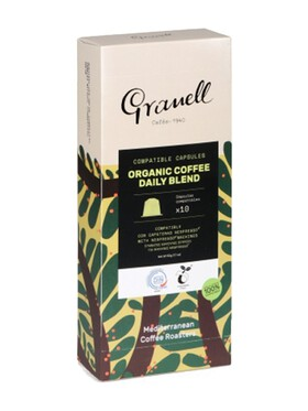 Granell Organic Daily Blend Espresso Strong Nespresso Capsule Replacement Compostable