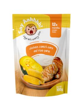 Say Aahhhh Chicken Squash Corn and Rice Puree (100g)