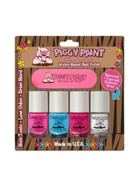Piggy Paint Blister 4-Pack with Nail File