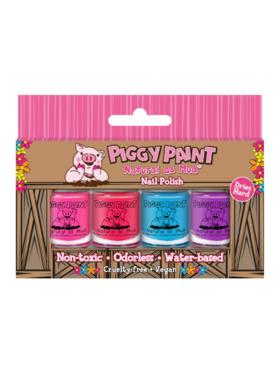 Piggy Paint Minis Nail Polish Box (Set of 4)