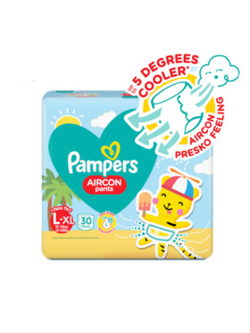 Pampers Aircon Pants Value Pack Large (30pcs)