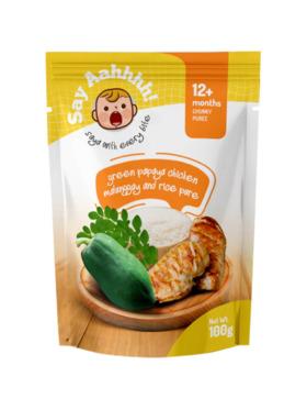 Say Aahhhh Green Papaya Chicken Malunggay and Rice Puree (100g)
