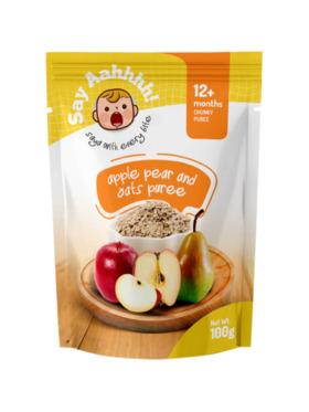 Say Aahhhh Apple Pear and Oats (100g)