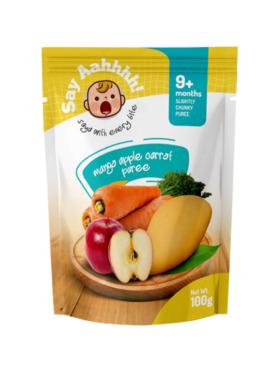 Say Aahhhh Mango Apple Carrot Puree (100g)