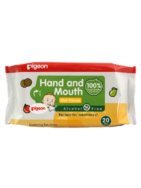 Pigeon Hand And Mouth Wet Tissue (20 sheets)