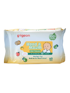 Pigeon Hand And Mouth Wet Tissue (60 sheets)