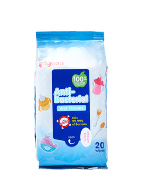 Pigeon Anti-Bacterial Wet Tissue (20 sheets)