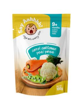Say Aahhhh Carrot Cauliflower and Peas Puree (100g)