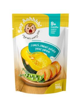 Say Aahhhh Squash Sweet Potato Peas Puree (100g)