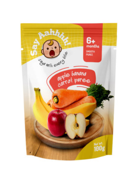 Say Aahhhh Banana Apple Carrot Puree (100g)